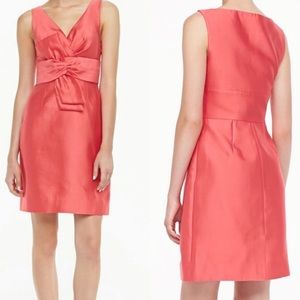 Kate Spade Mina Bow Dress Silk Strawberry Pink 0